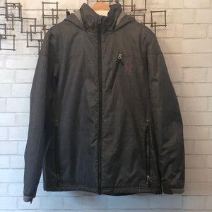 Men's Spyder charcoal waterproof winter coat
